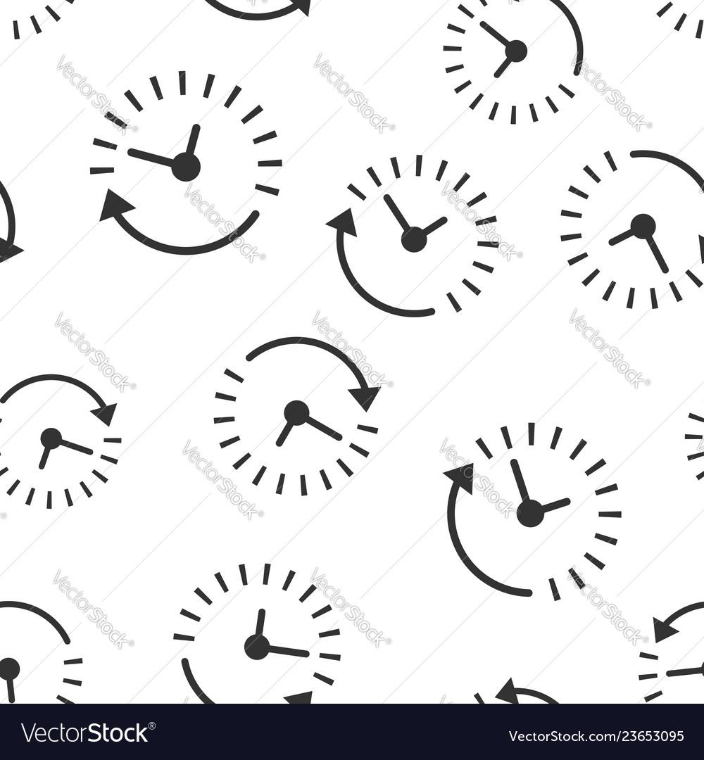 Clock countdown icon seamless pattern background