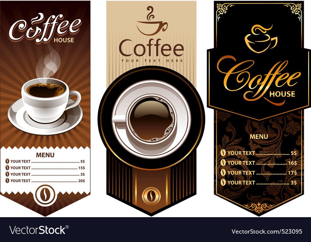 coffee templates royalty free vector image vectorstock