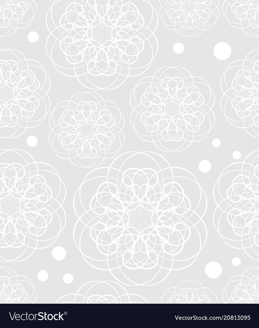 Doodle flower motif low contrasting white drawing