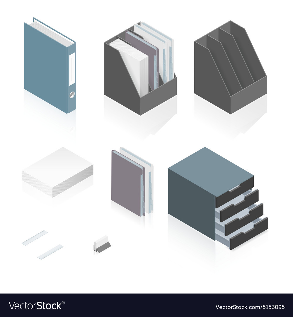 sc 1 st  VectorStock & Files folders paper stack storage boxes and a Vector Image