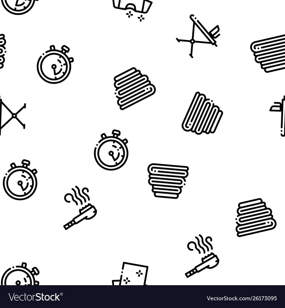 Laundry service seamless pattern