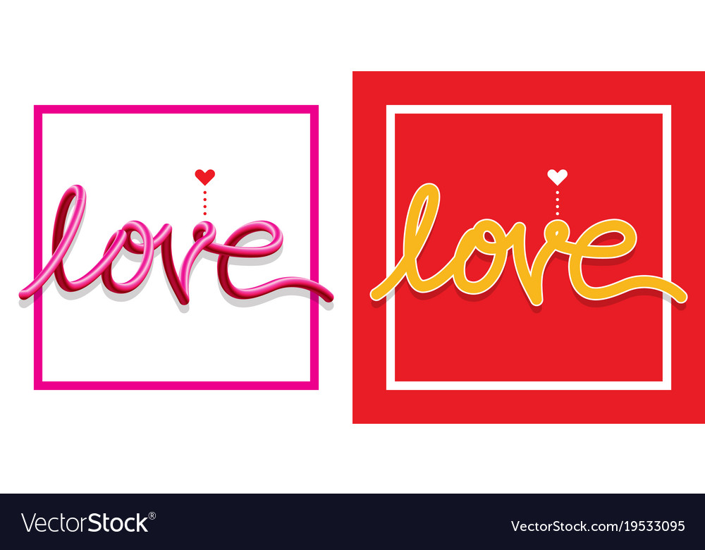 Love symbols text happy valentine day