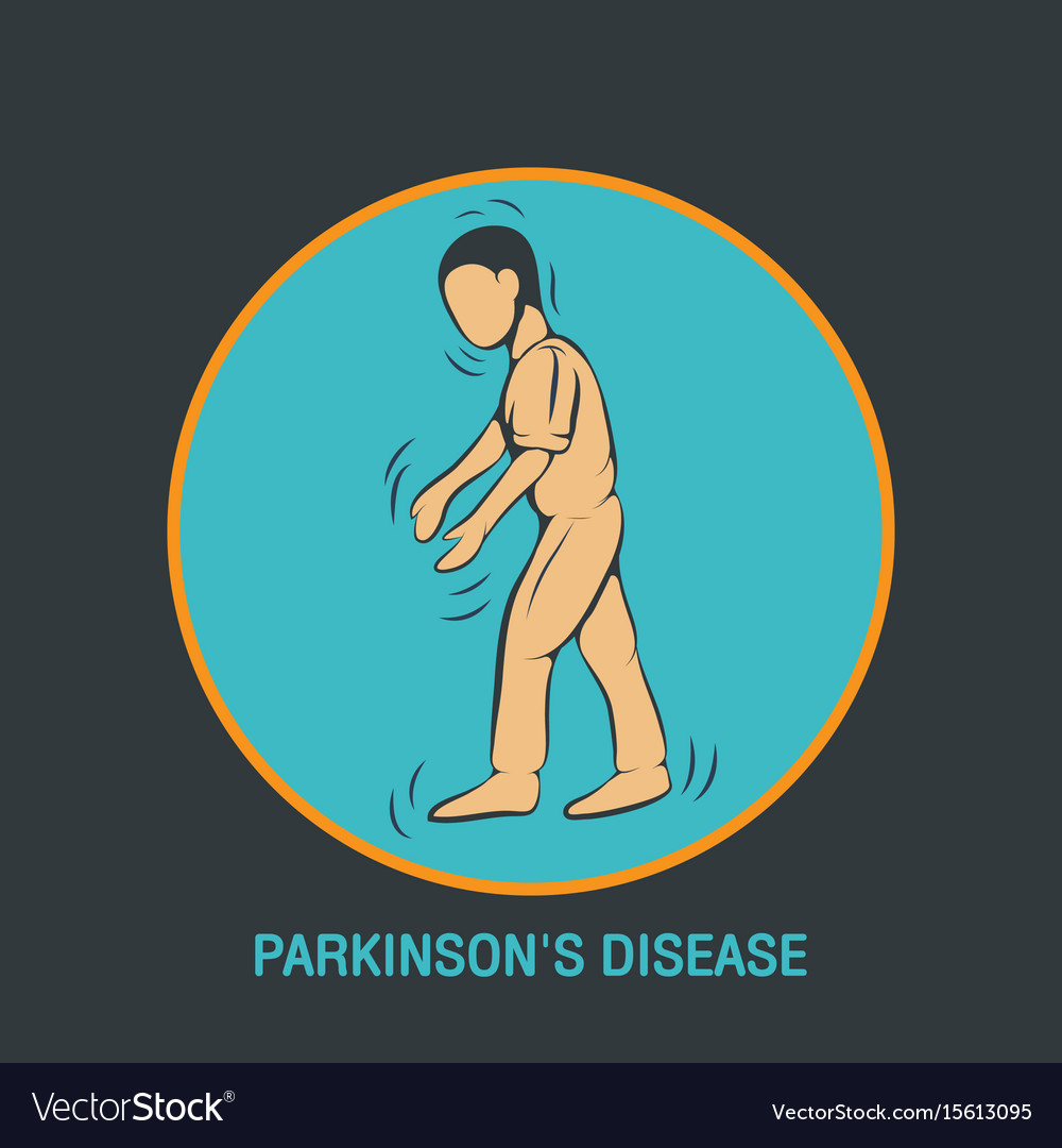 Parkinsons disease logo icon design template
