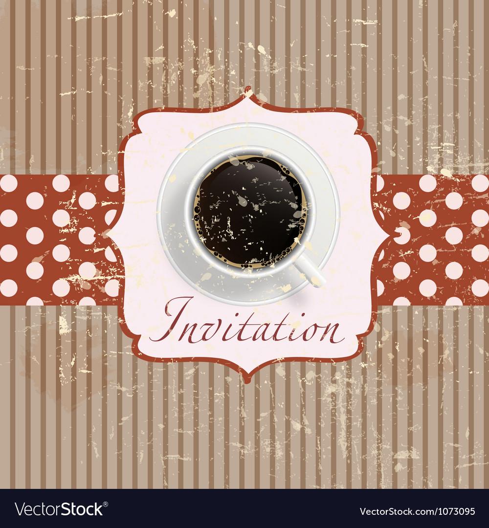 Retro coffee invitation Card