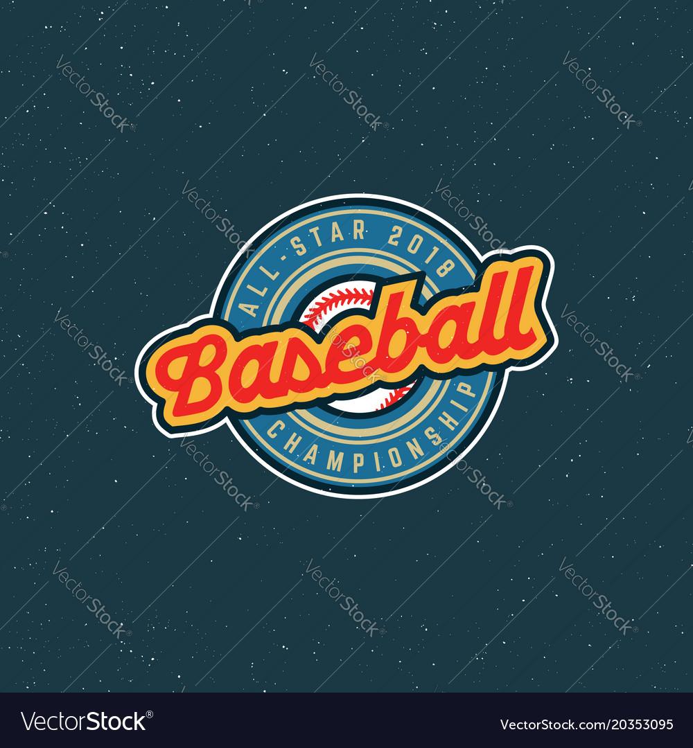 Vintage baseball logo retro styled sport emblem