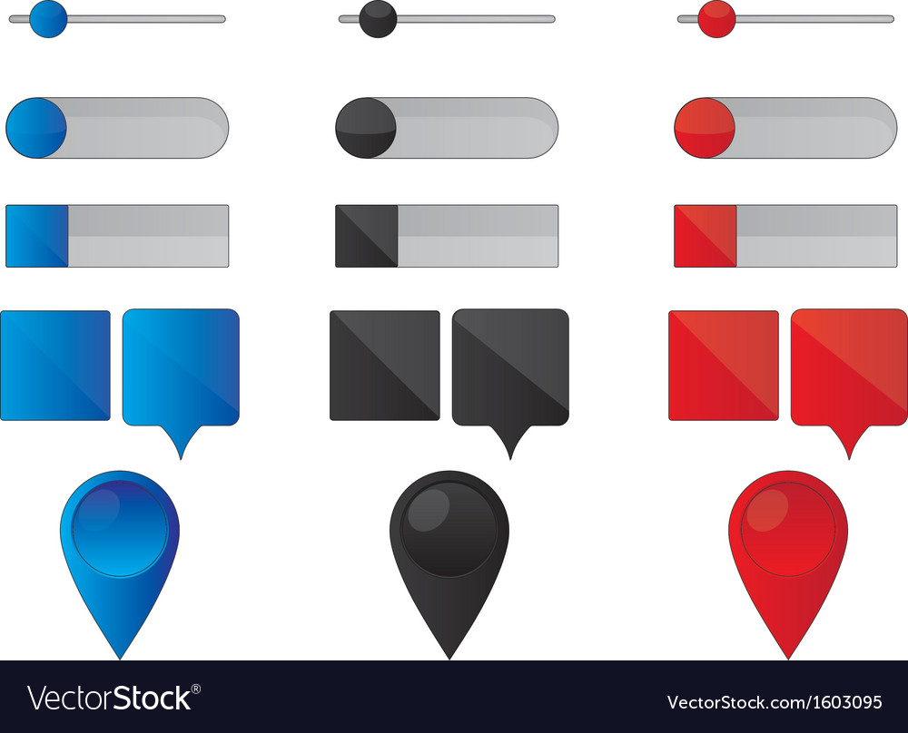 Web buttons and pointers vector image