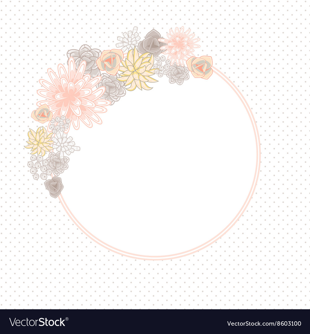 Flower round circle card template