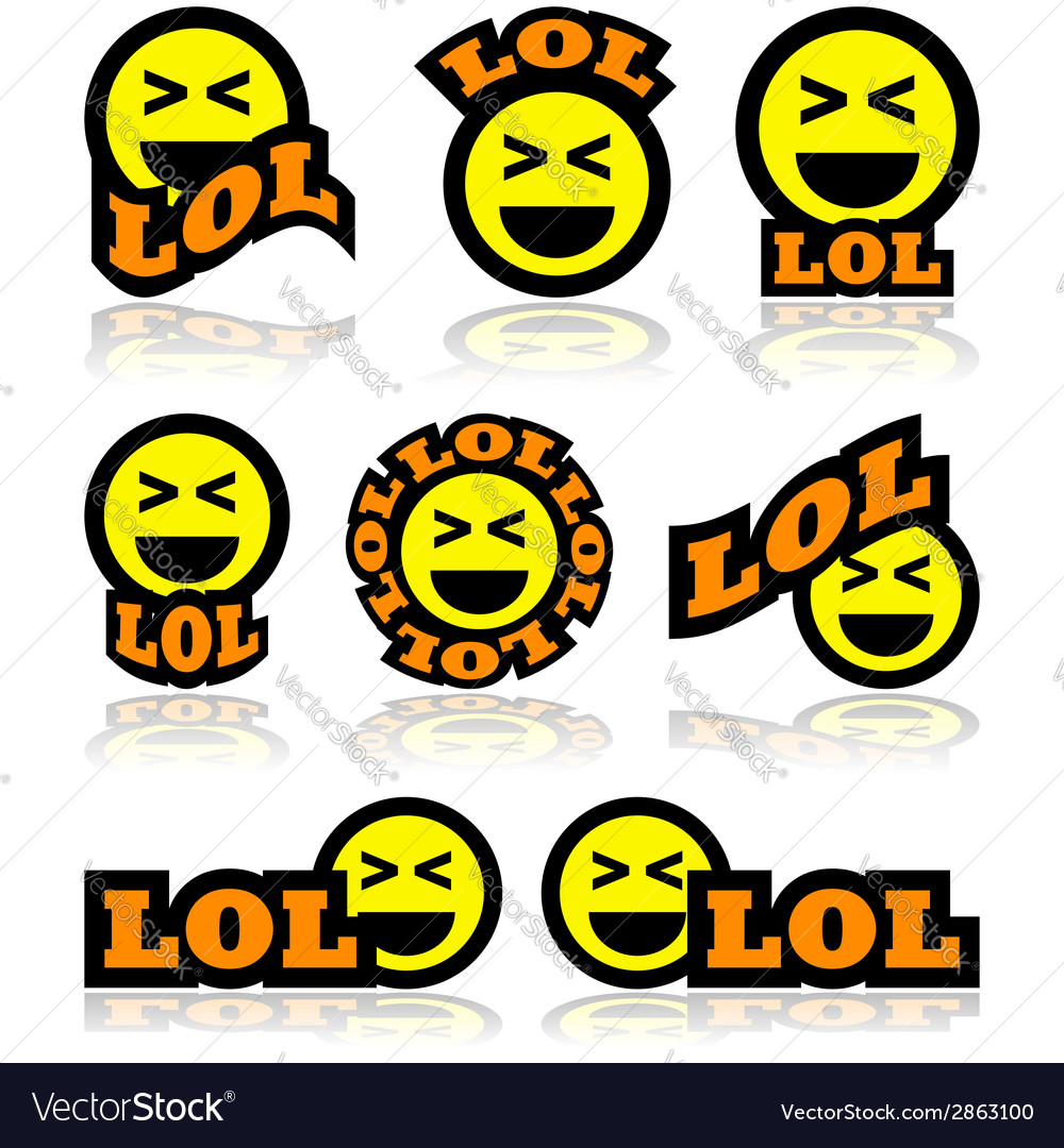Laughing face icons