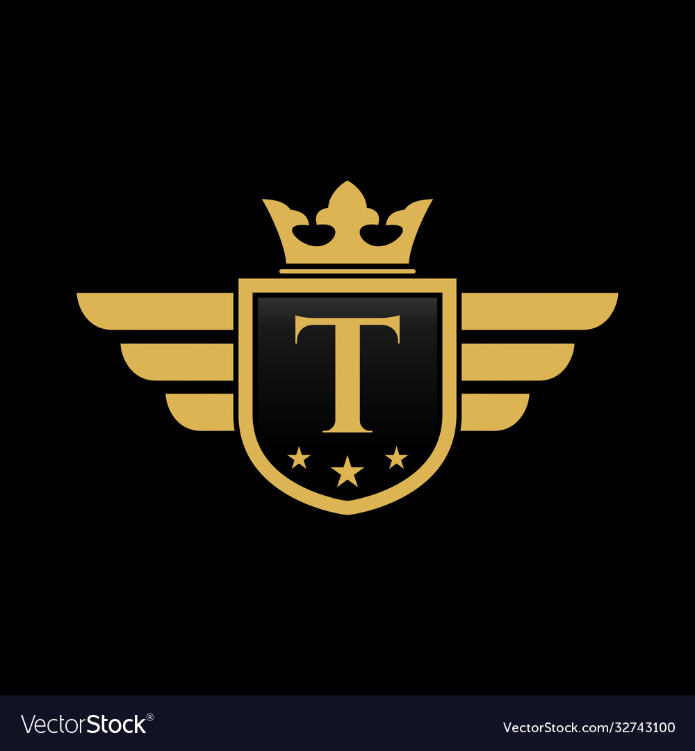 Letter t shield wing