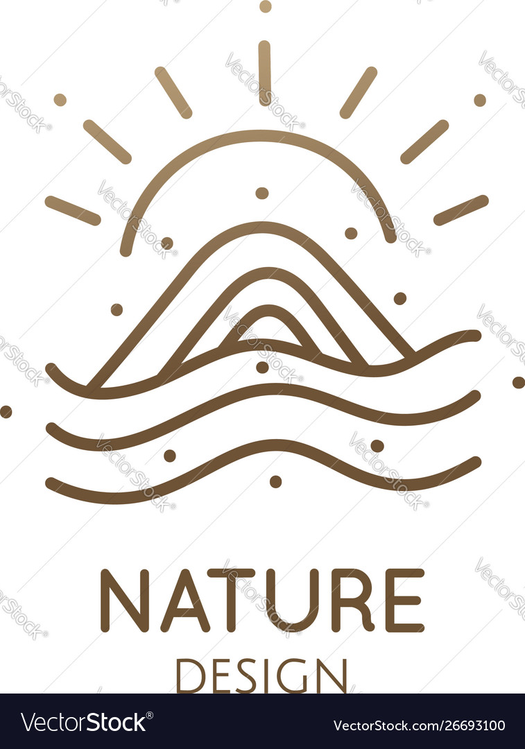 Minimal doodle landscape logo