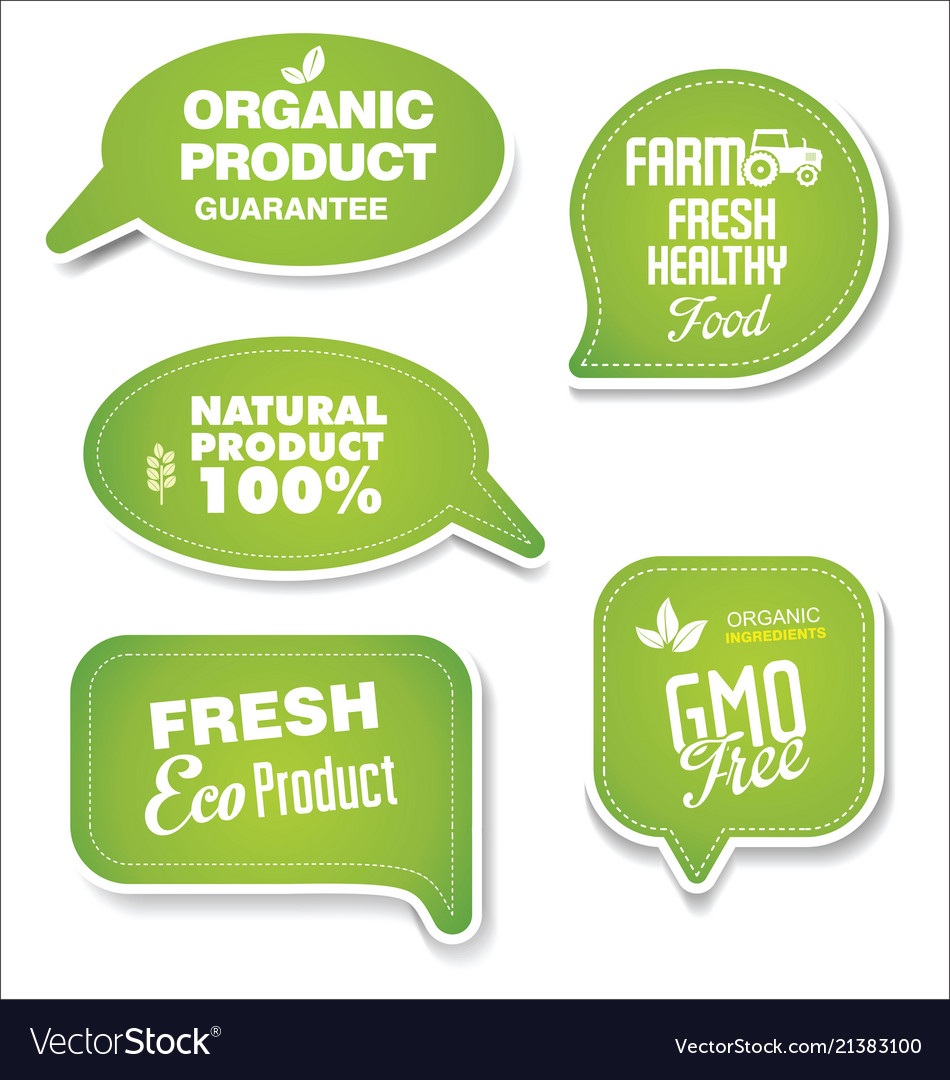 Natural organic products green collection of