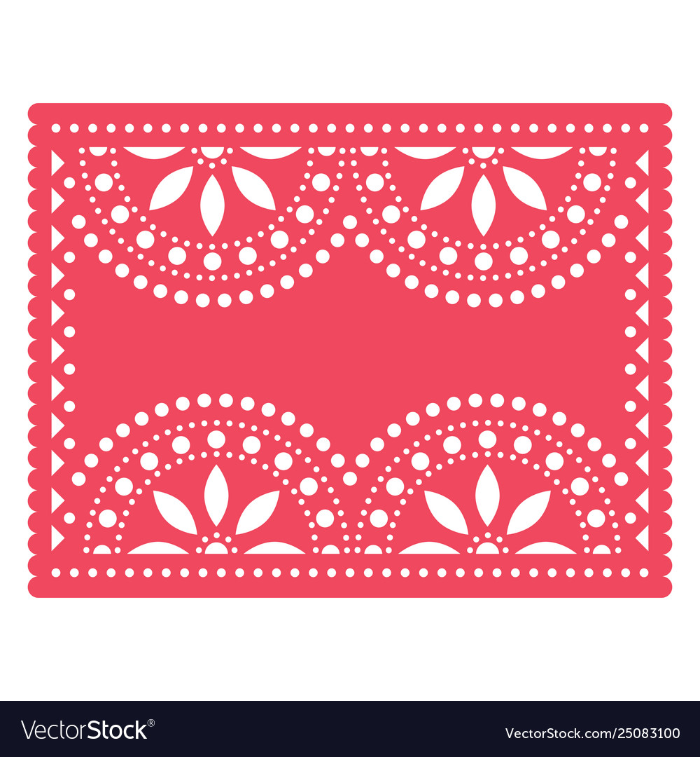 Papel picado templater design mexican art