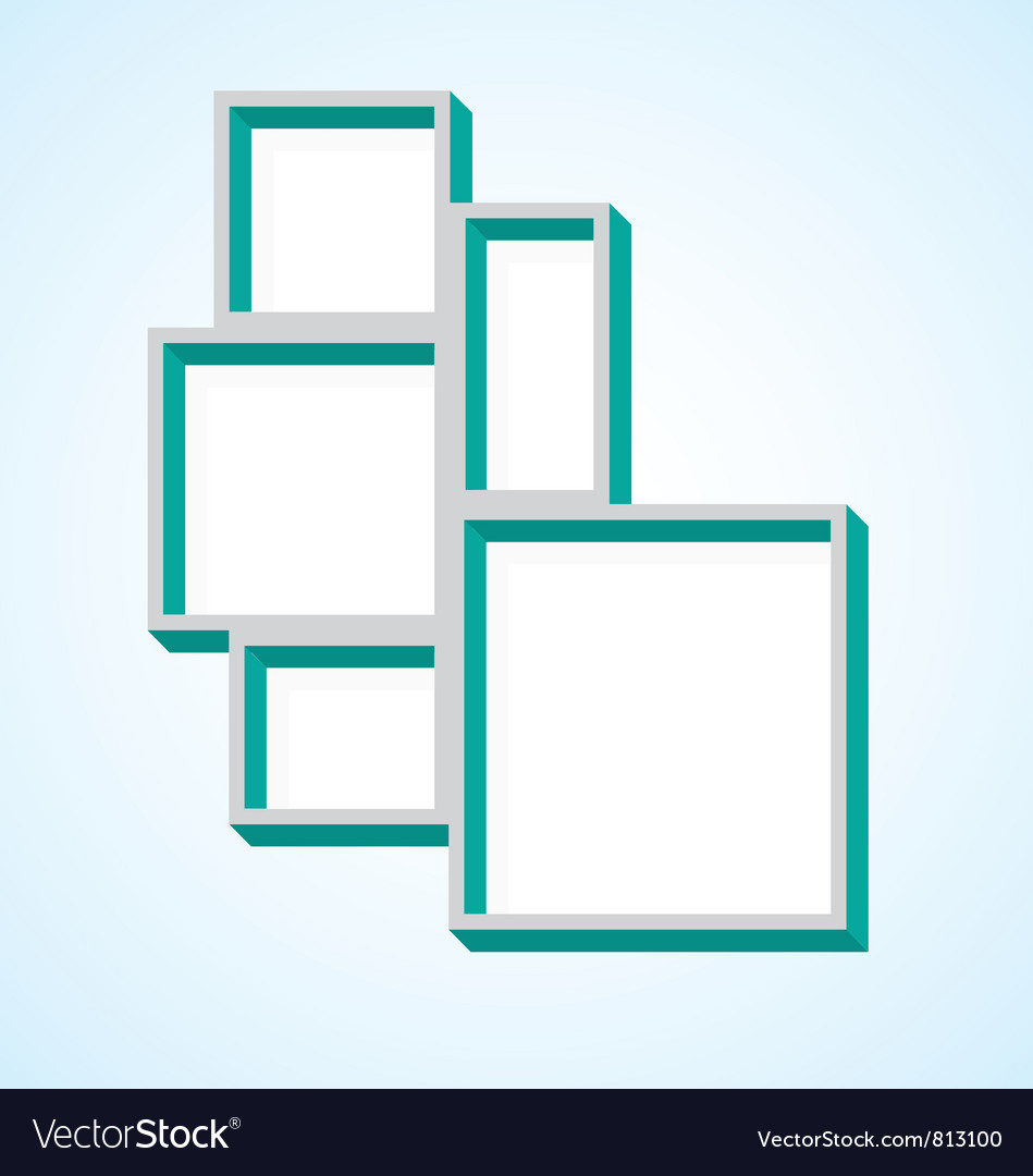 Picture Frame Collage vector image