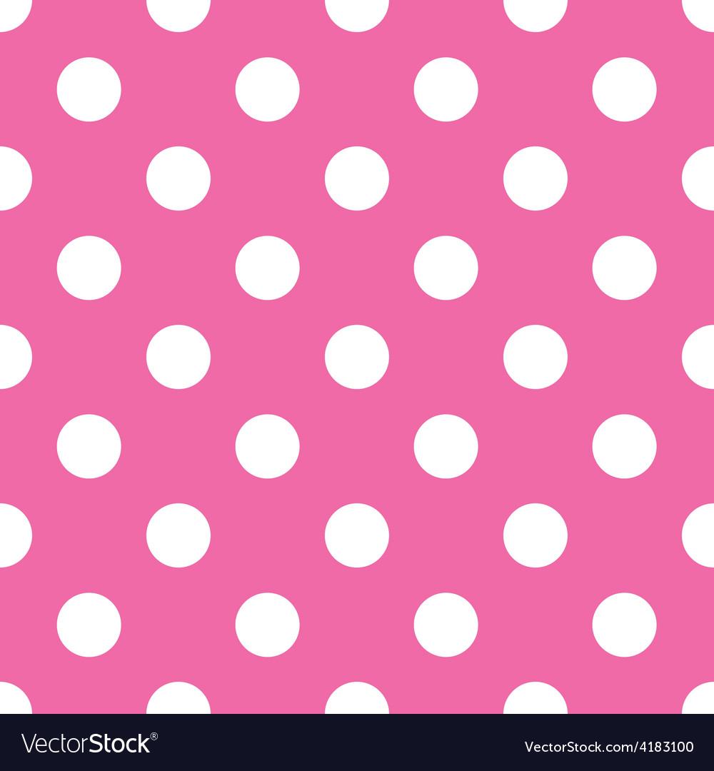 Seamless pink polka dot