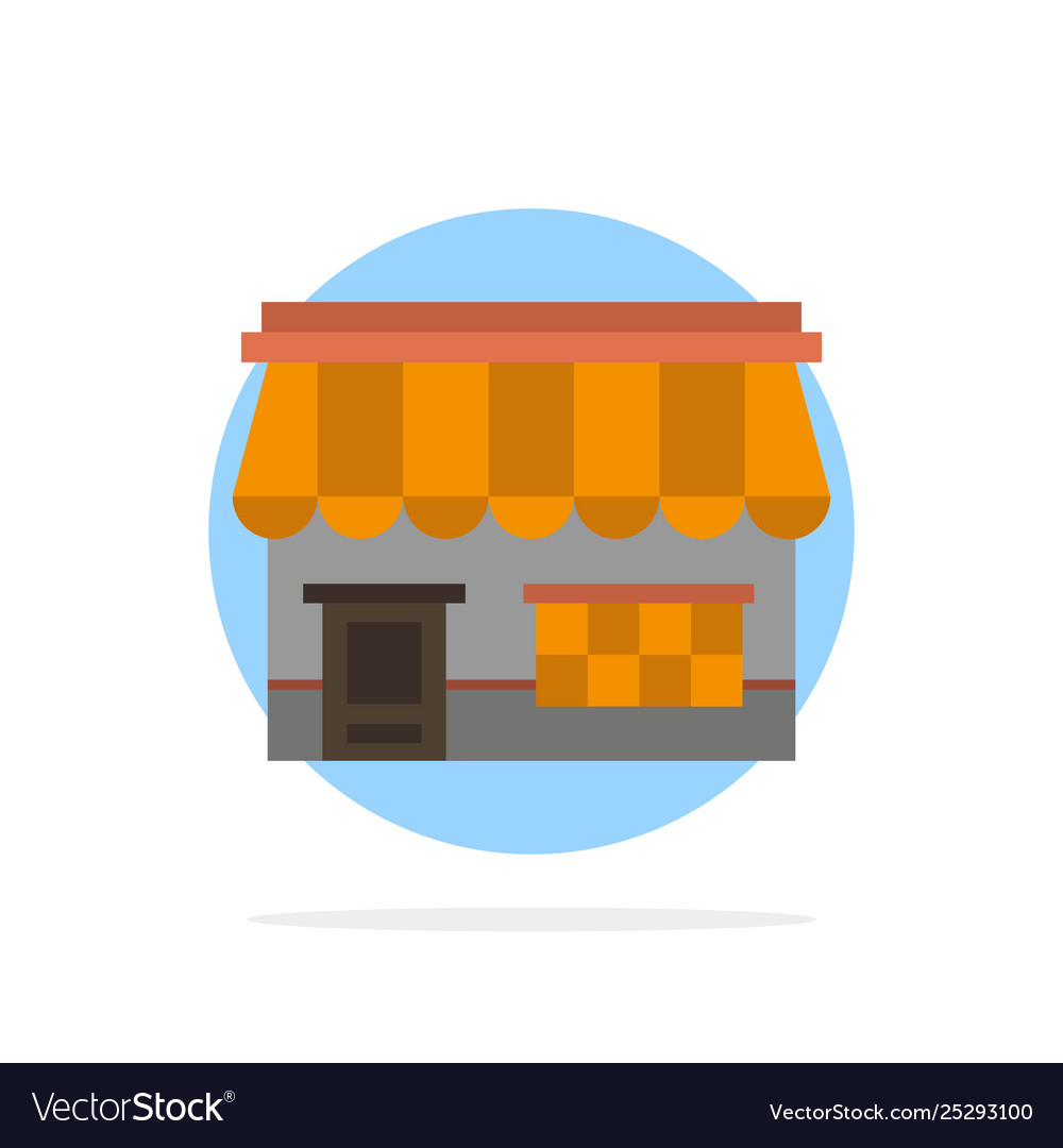 Shop online market store building abstract circle