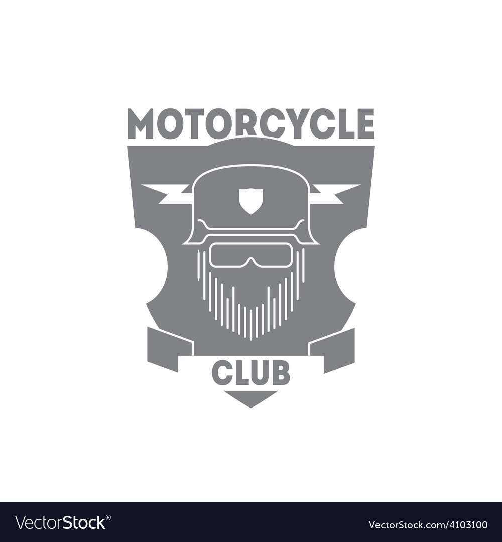 Vintage motorcycle labels badges or logo with