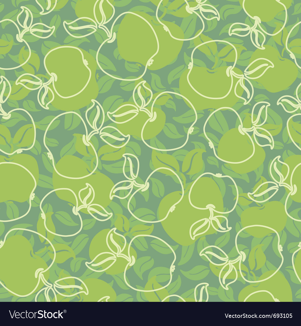 Abstract apples vector image
