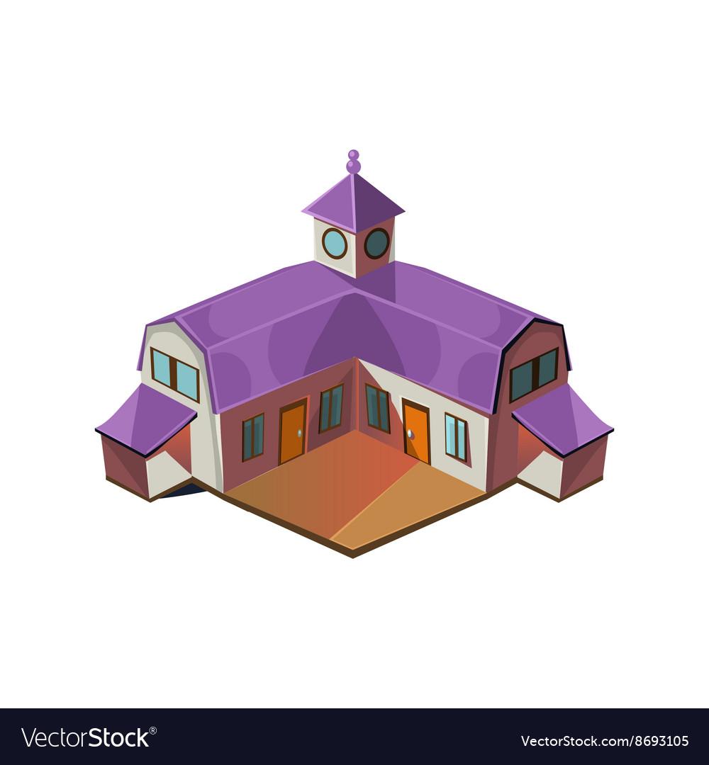 Big Farm House Simplified Cute vector image