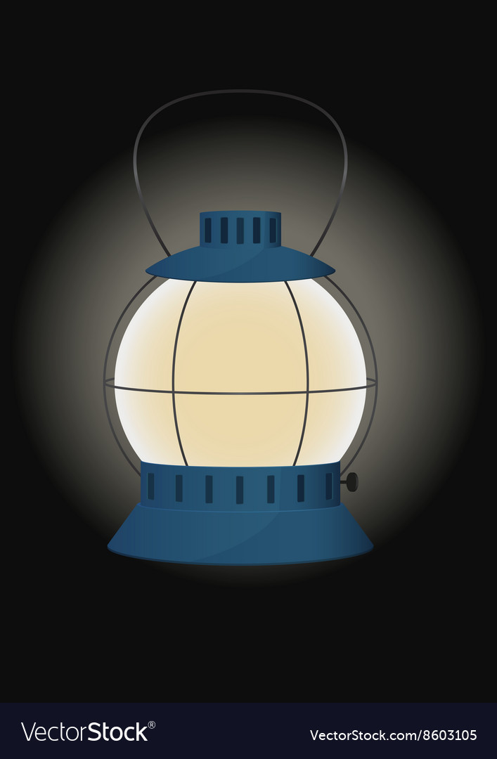 Blue gas lamp