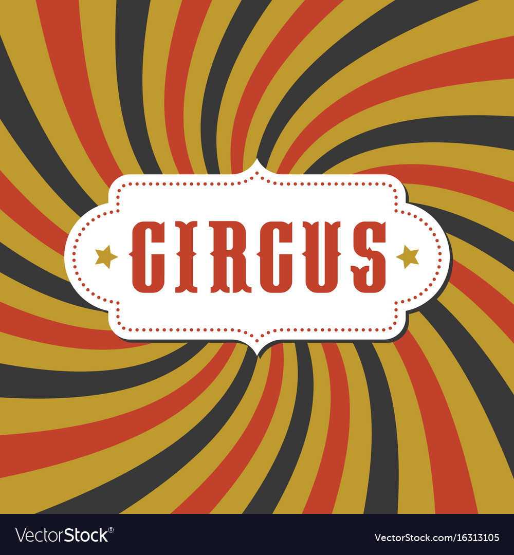 Circus typography alphabet with vintage board vector image