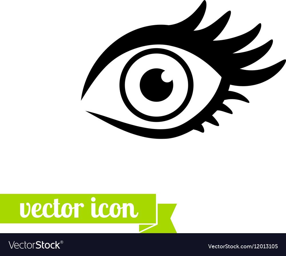 Eye icon 1 vector image