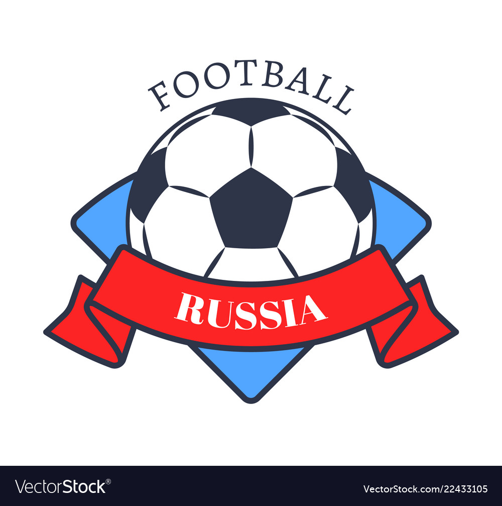 Football in russia logo color