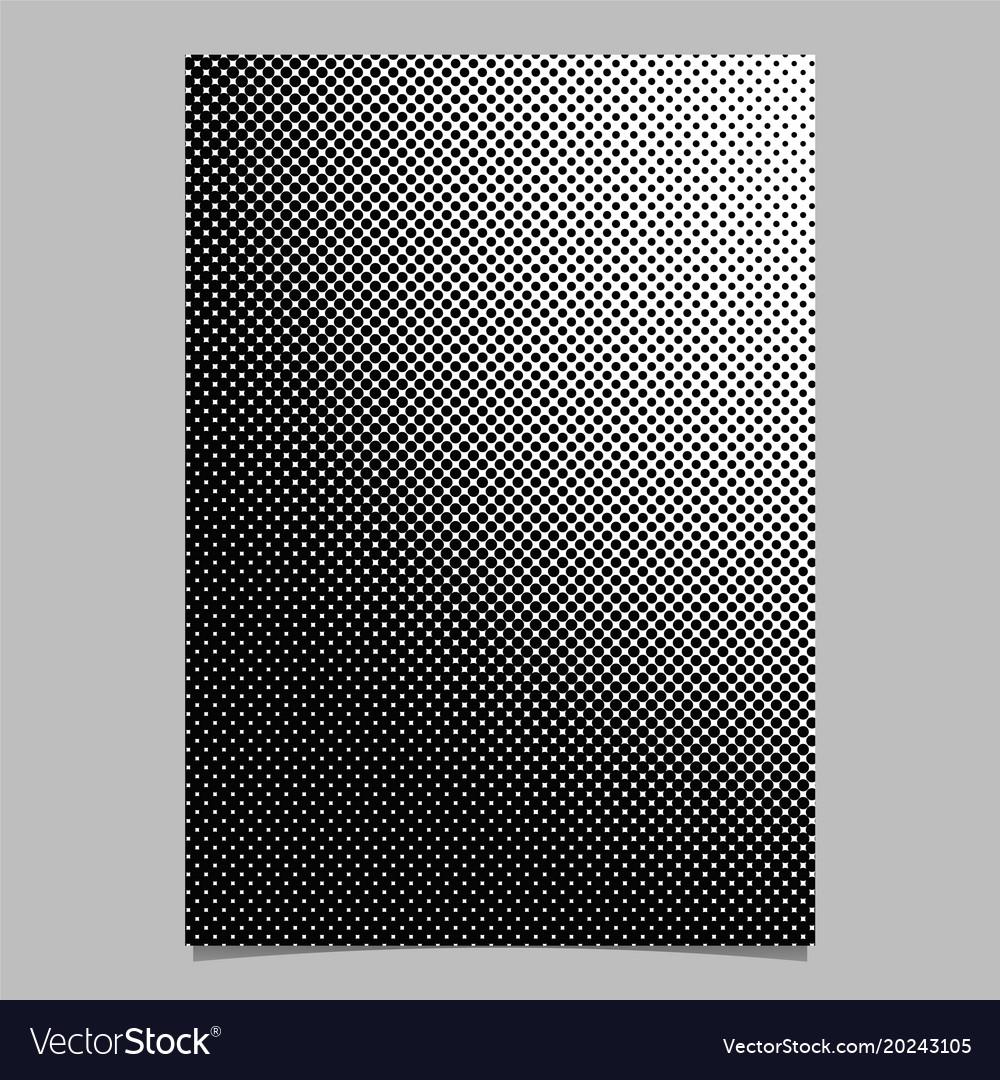 Geometric halftone dot pattern brochure template