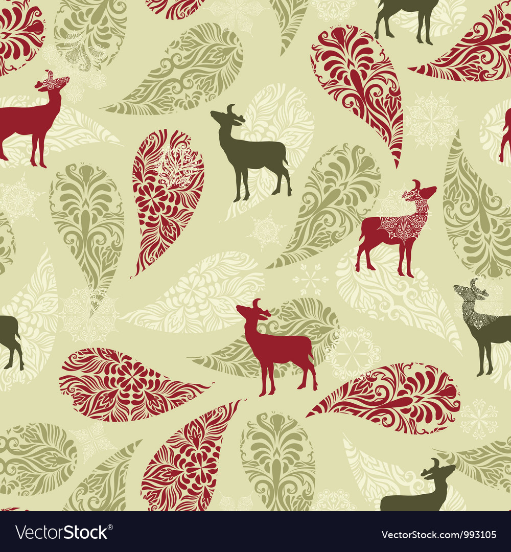 Retro Christmas Pattern Background