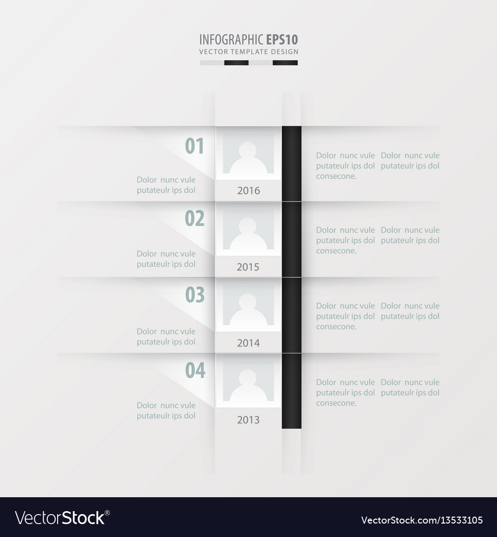 Timeline report design template black and white