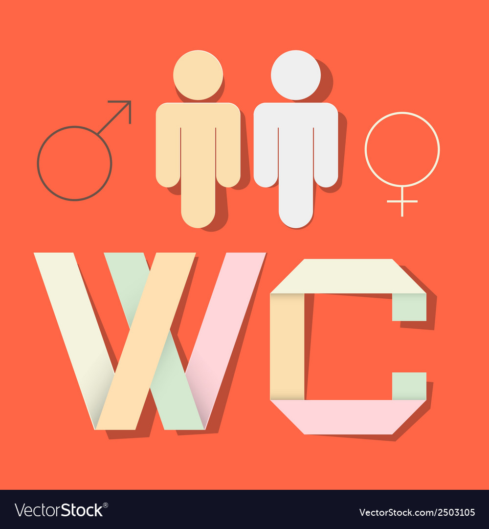 WC Title with Paper Cut People and Man Woman