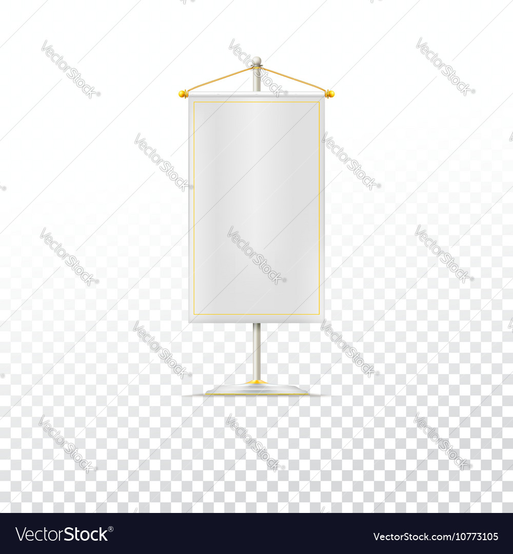White pennant or flag