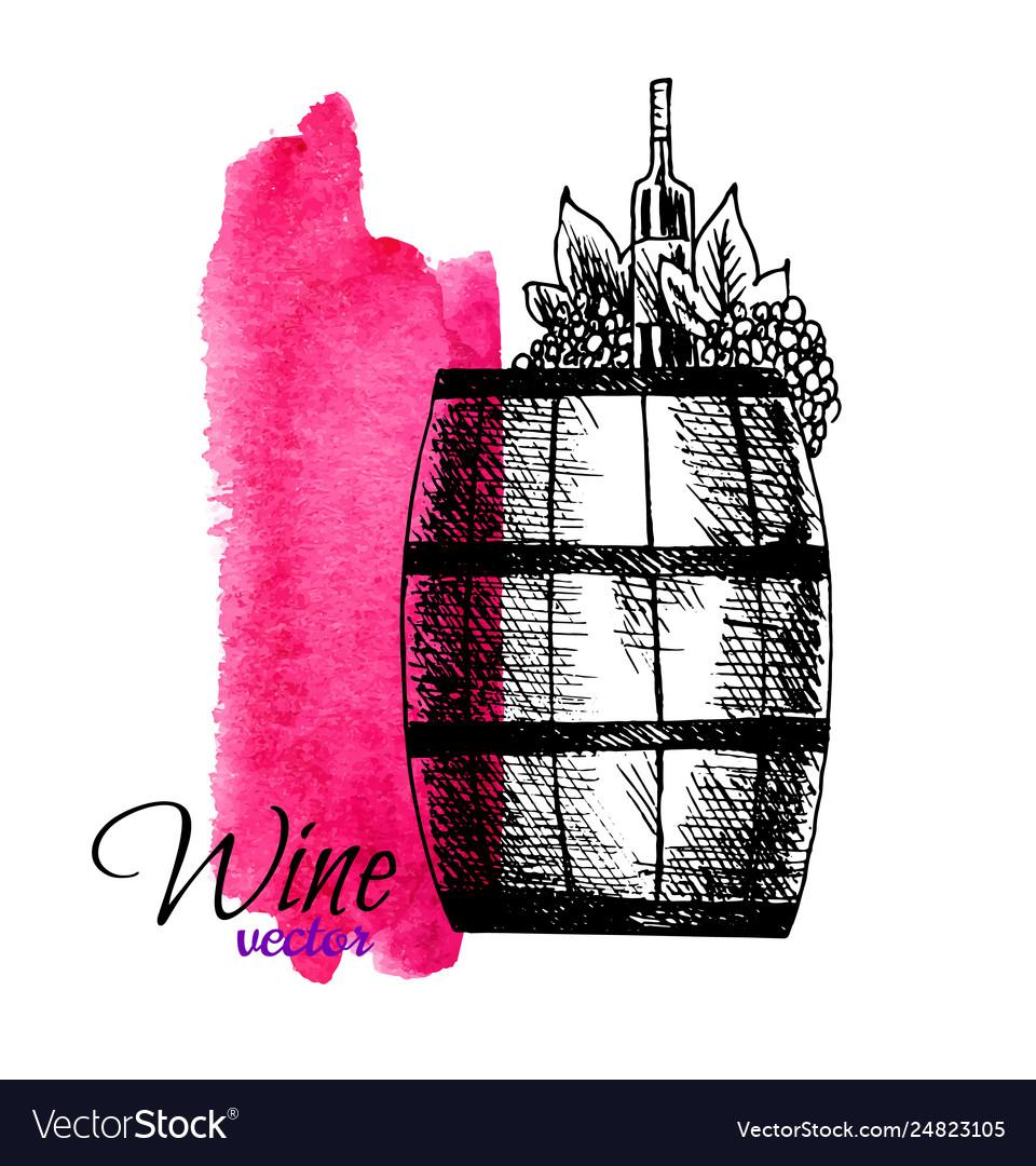 Wine degustation concept in hand drawn design