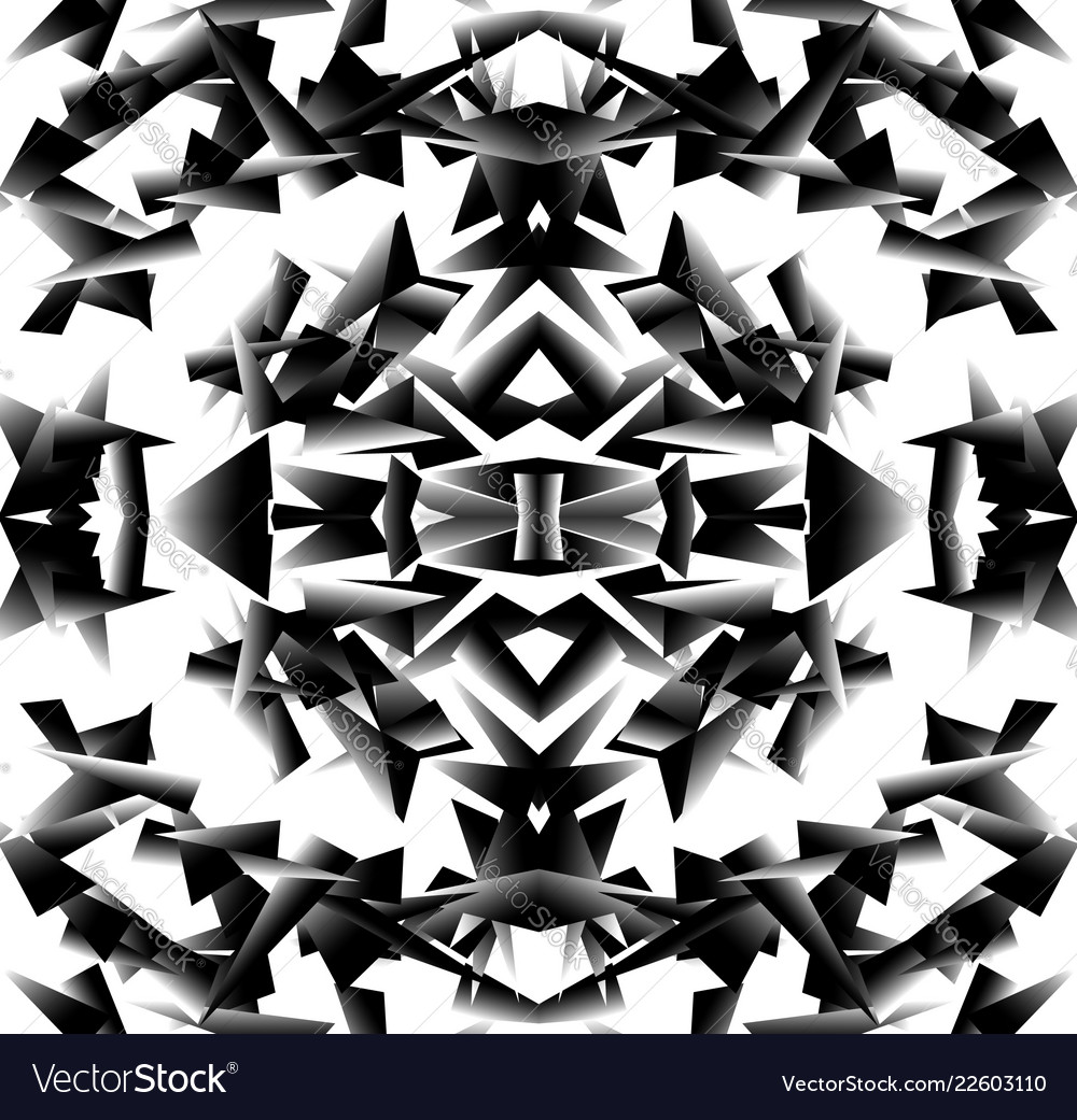 Abstract black and white artistic image repeatable vector image