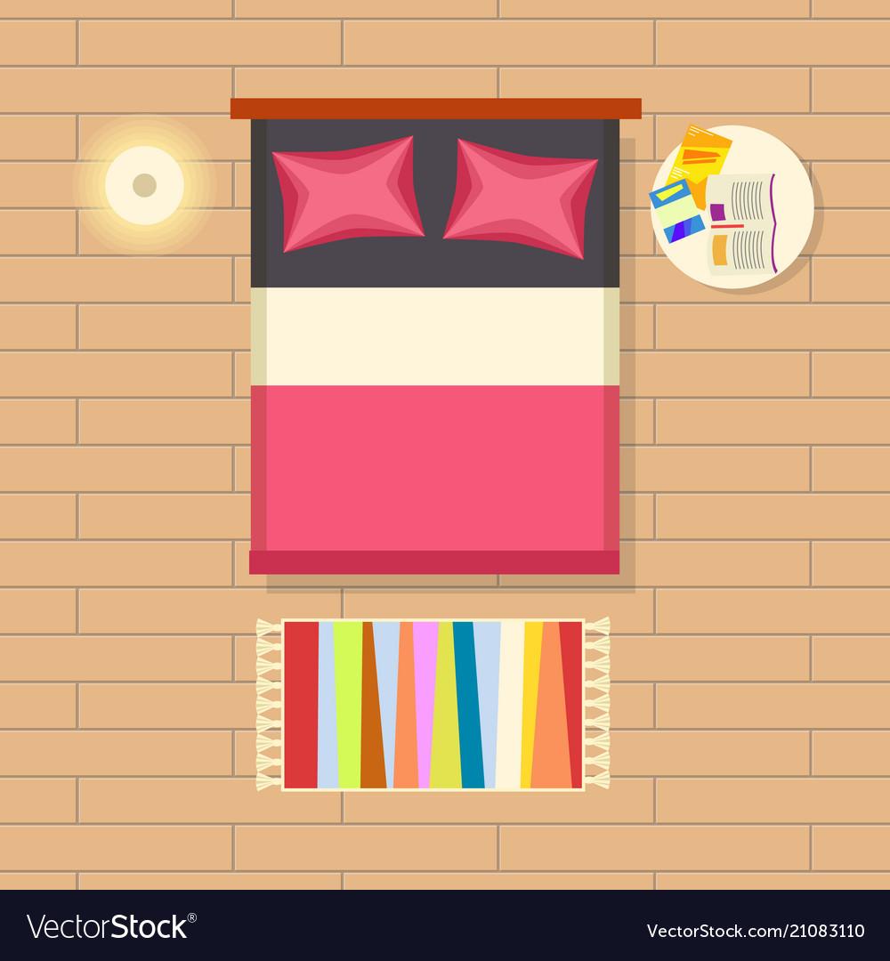 Bedroom interior decor on