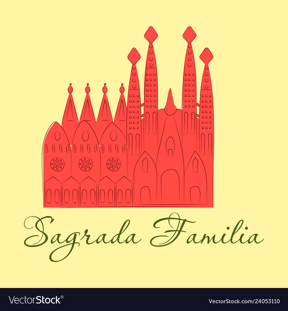 May 15 2014 a of la sagrada familia the cathedral vector image