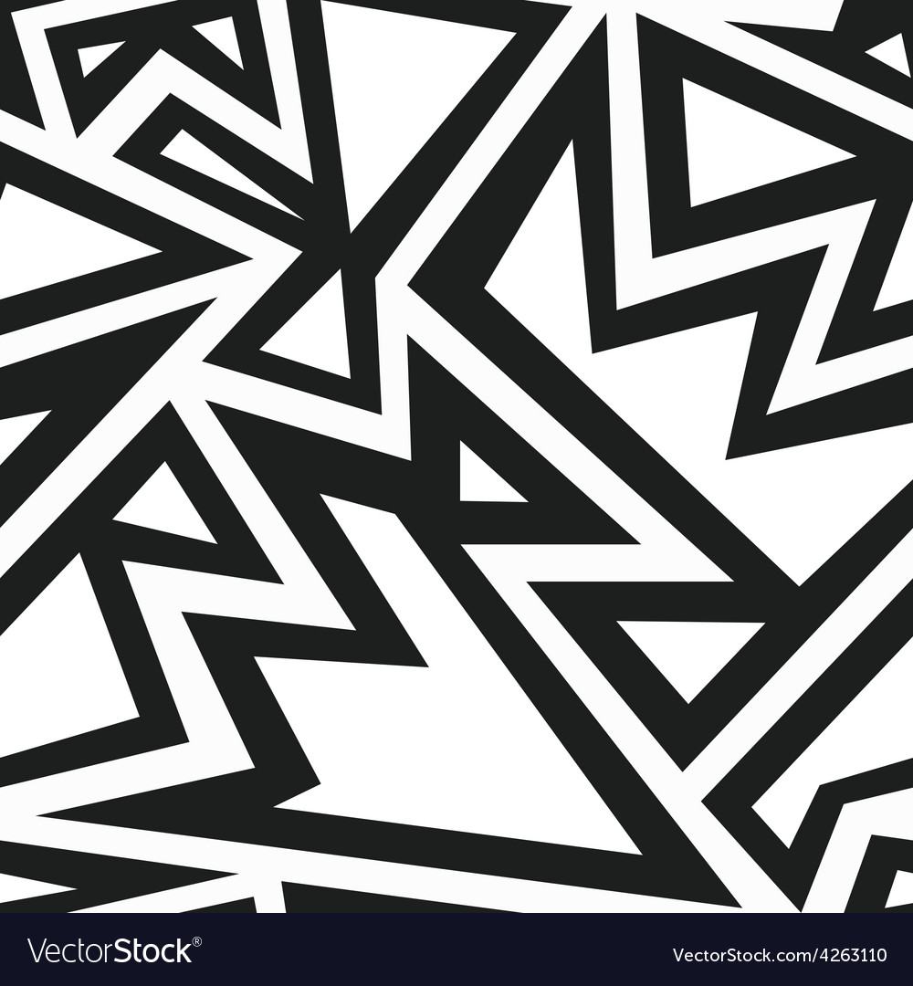 Monochrome aztec seamless pattern vector image