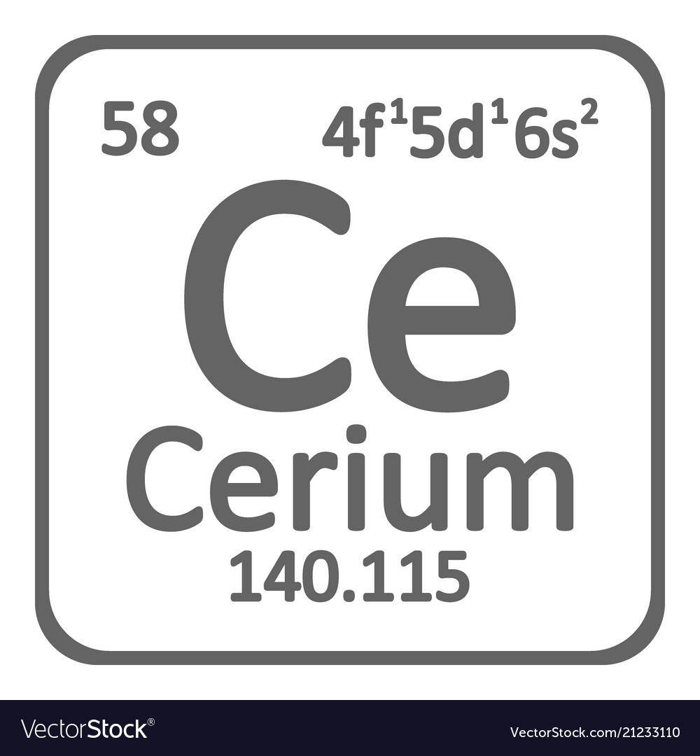 Periodic table element cerium icon royalty free vector image periodic table element cerium icon vector image urtaz Image collections