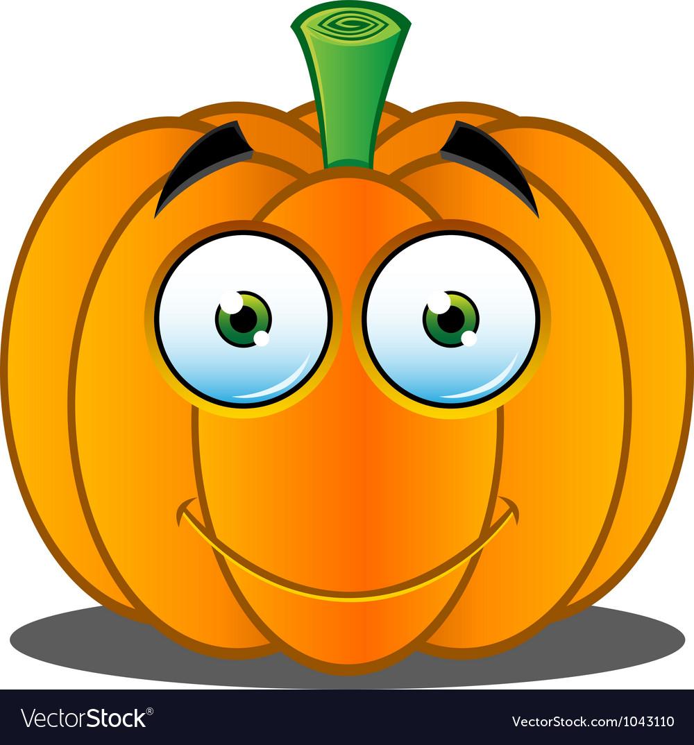 pumpkin face 18 royalty free vector image vectorstock rh vectorstock com Cute Pumpkin Faces Spelling Test Clip Art
