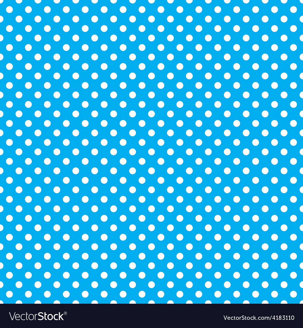 Seamless blue polka dot