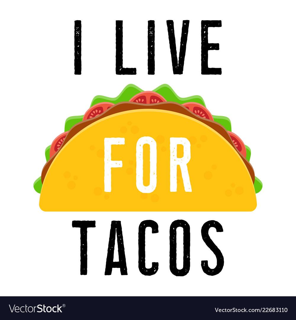 Taco mexican food