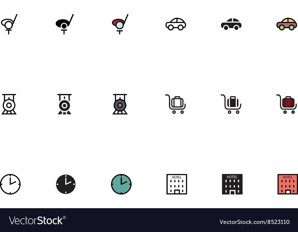 Travel Responsive Icons 12