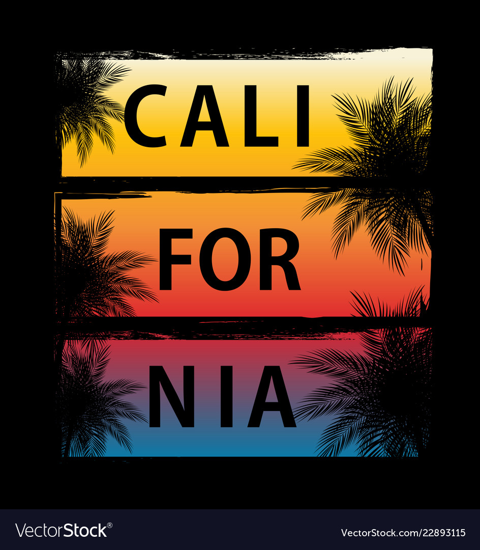 Abstract california palm background