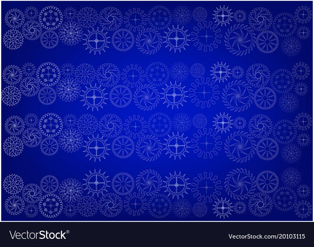 Cogwheels on a blue