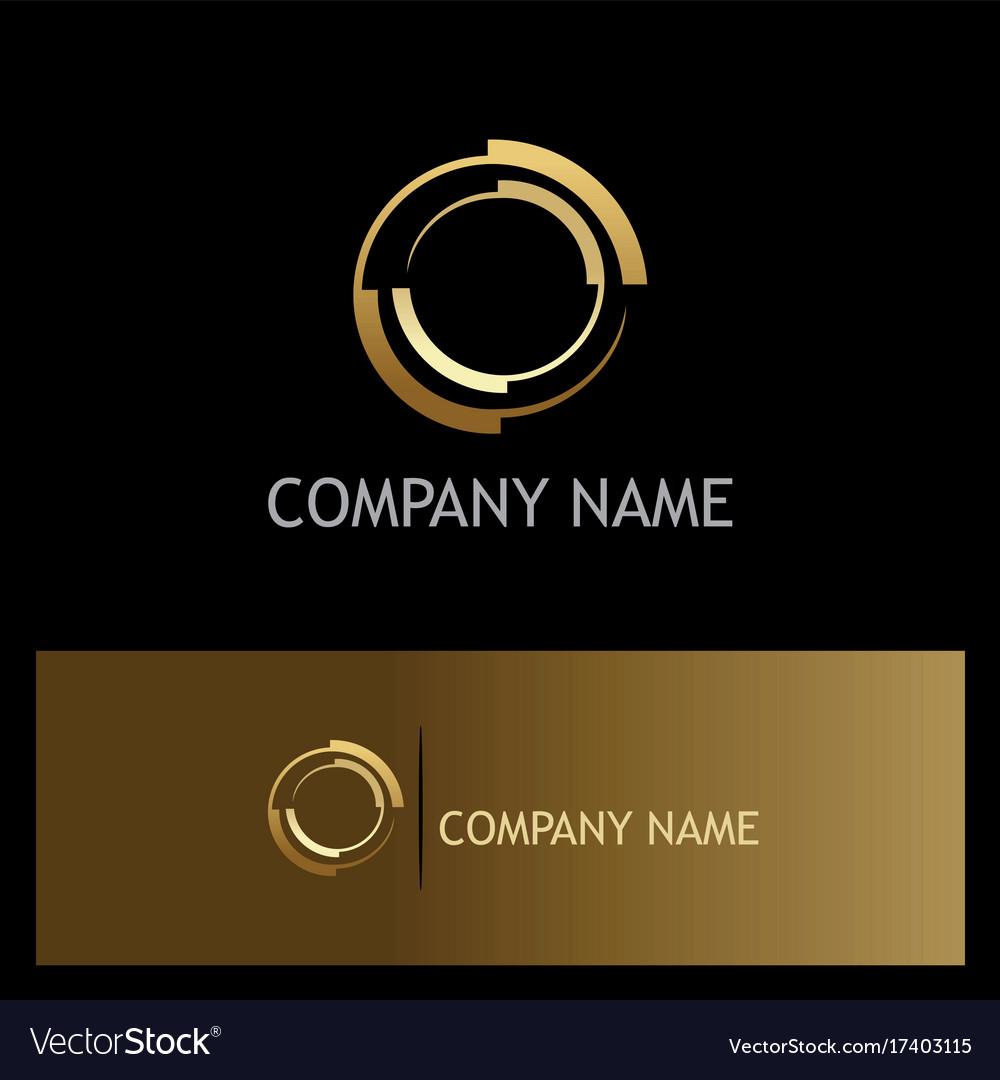 Gold round target company logo
