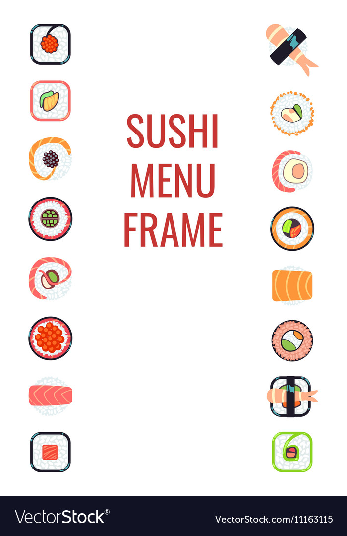Japanese food sushi menu frame