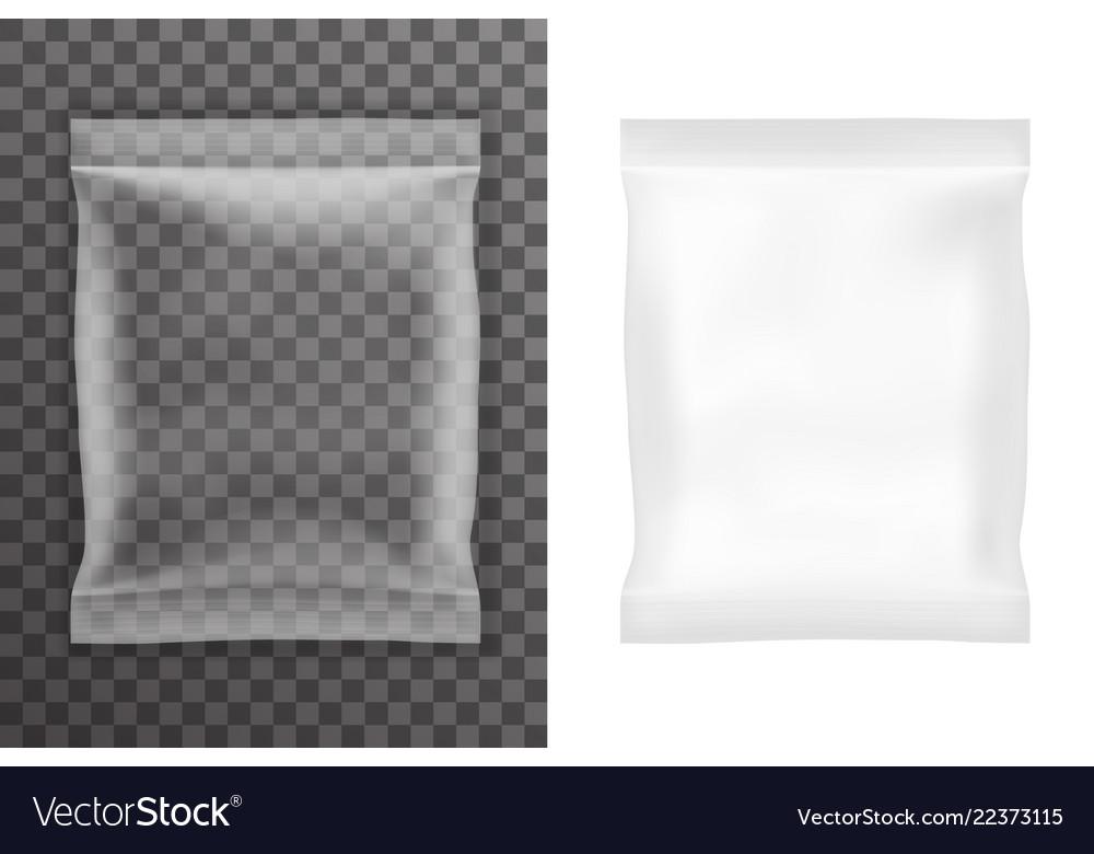 Transparent background plastic empty food