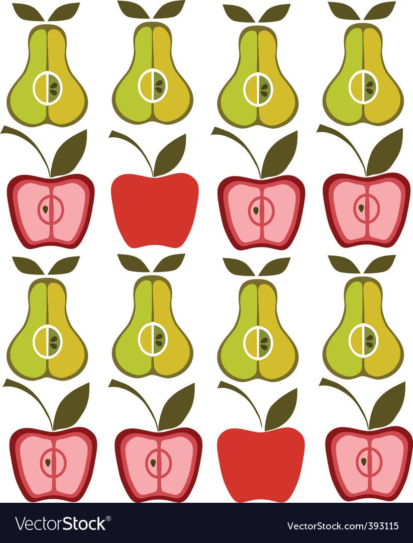 Vintage pear apple background