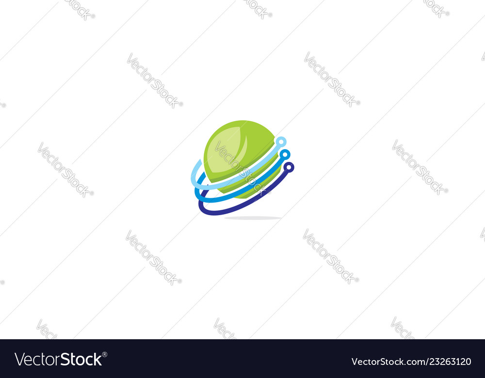 Abstract communication icon logo technology