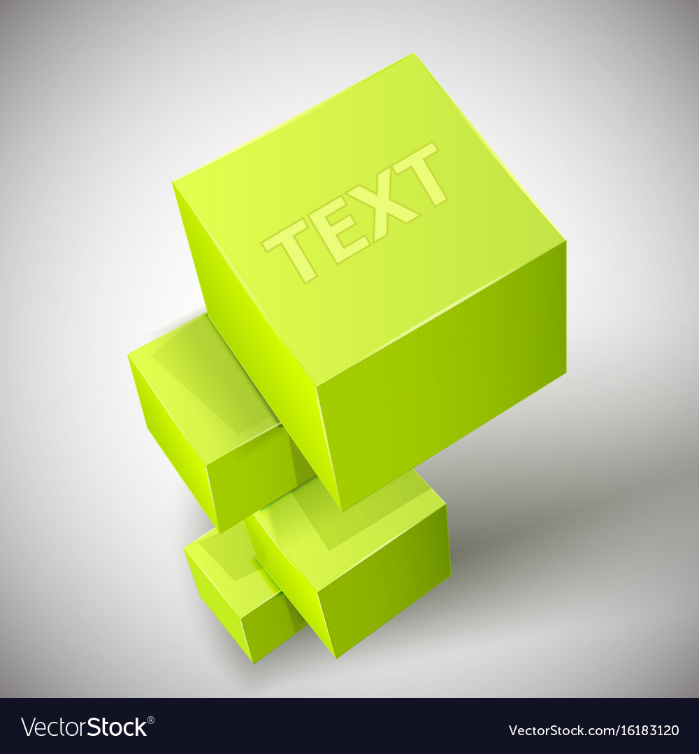 Abstract cube composition vector image
