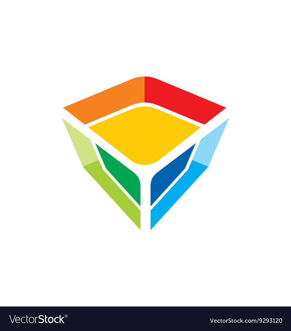 Colorful gem technology logo